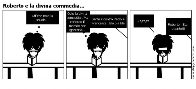 Roberto e la divina commedia...