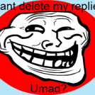 Cant delete my replies