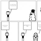 blijf van henk zijn sneeuw pop af
