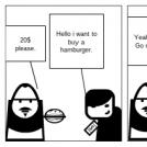 Buying a hamburger