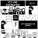 The Avengers in a Comic Strip