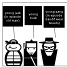 buck, jack, and zang story