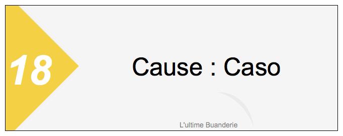 18 === Cause : Caso