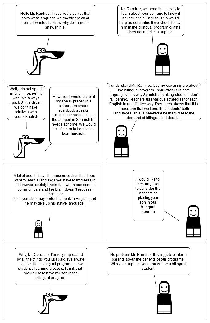 Comic Strip Enhancing Instruction For Spanish Speakers Through