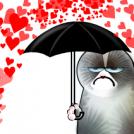 Grumpy valentine.