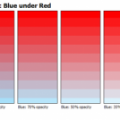 Advanced Color Chart: Blue under Red