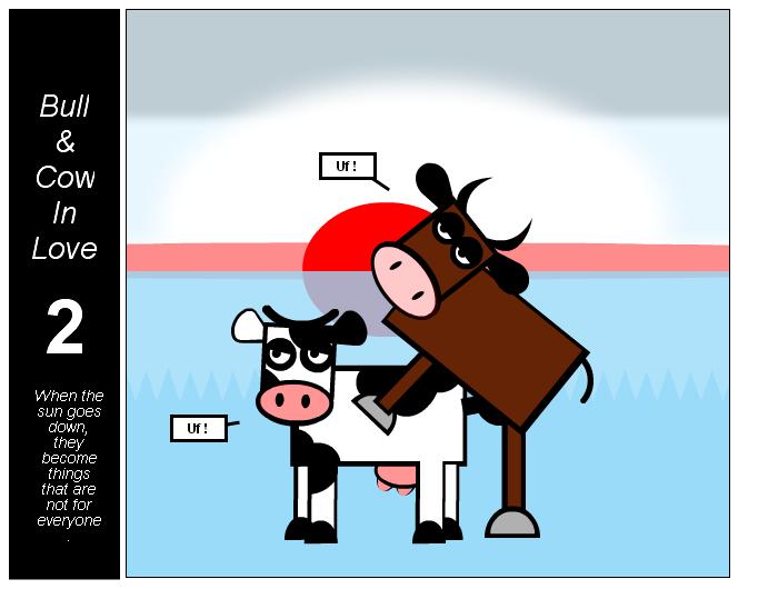 Bull & Cow in love 2