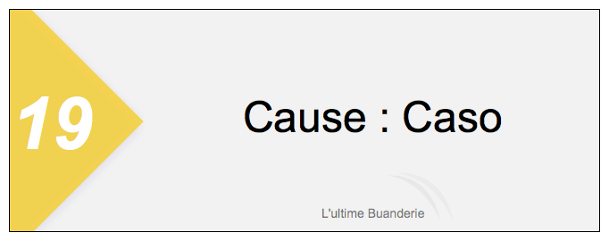 19 === Cause : Caso