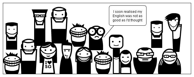 His English