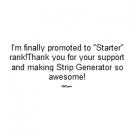 ''Starter'' Rank promotion