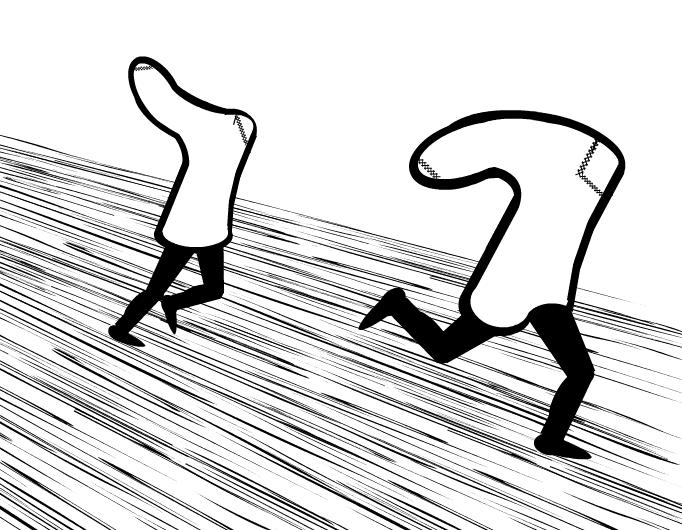 socks on the run