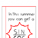 Trig pun! It´s summer.