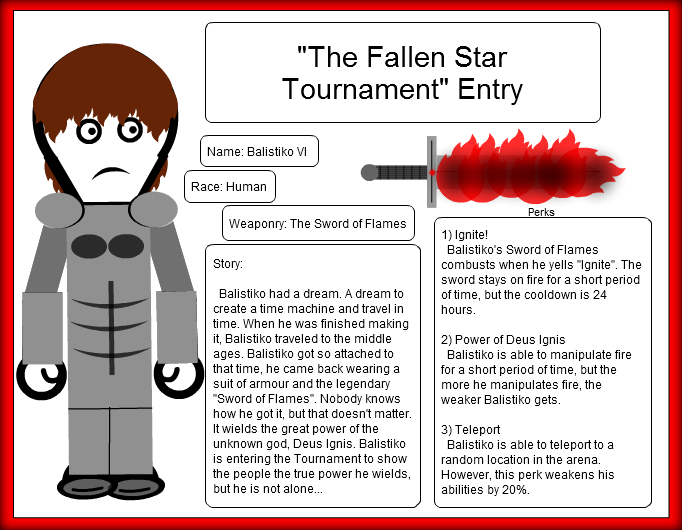 """Fallen Star Tournament"" Entry"