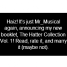Hatter Collection Vol. 1 Cover