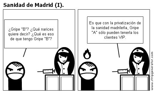 Sanidad de Madrid (I).