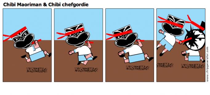 Chibi Maoriman & Chibi chefgordie