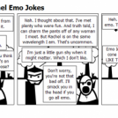 2 Panels Plot, 1 Panel Emo Jokes