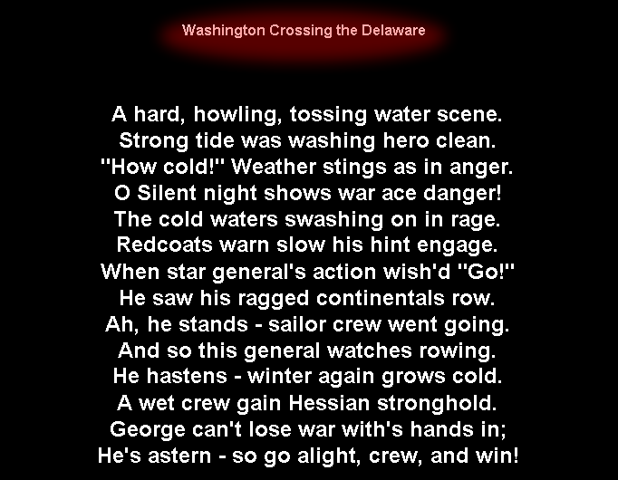 Anagram Poem