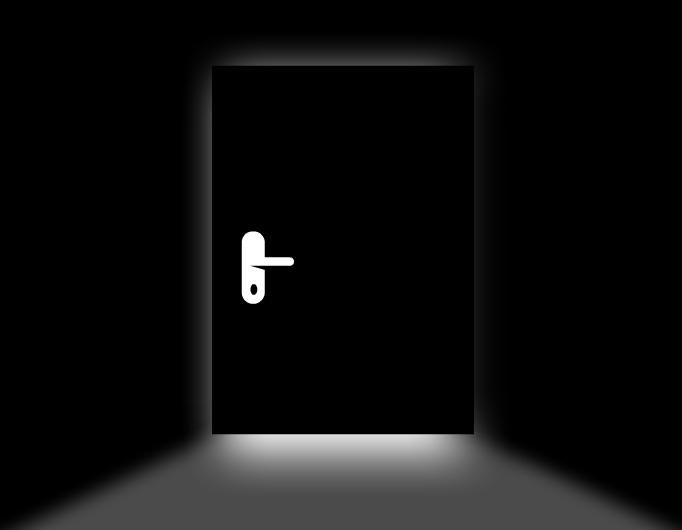 A door in the dark
