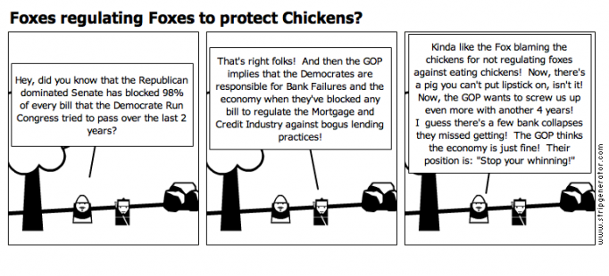 Foxes regulating Foxes to protect Chickens?