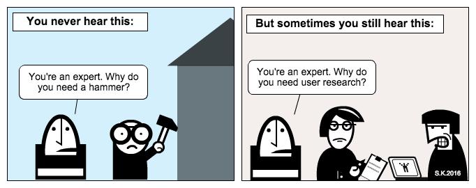 UX cartoon: UX Designer's tool
