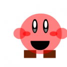 Kirby con zapatos cuadrados