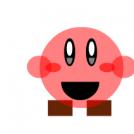 Kirby con zapatos cuadrados