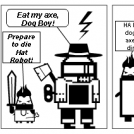 Dog Boy and Hat Robot ....(and a Goat!)