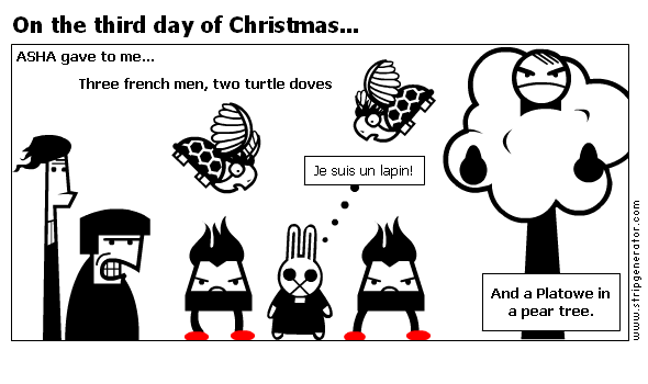 On the third day of Christmas...