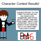 Character Contest Results!