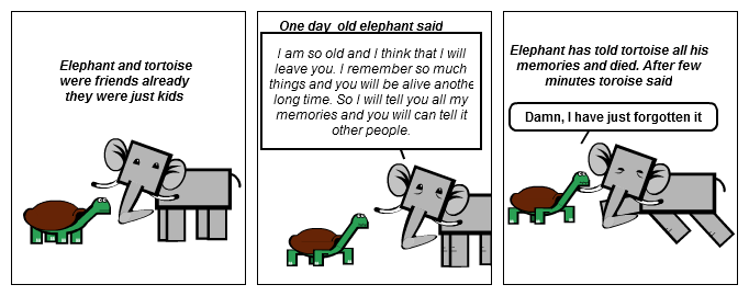 Elephant and tortoise