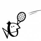 Fishes are playing badminton