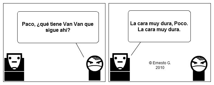 Paco y Poco sobre los Van Van