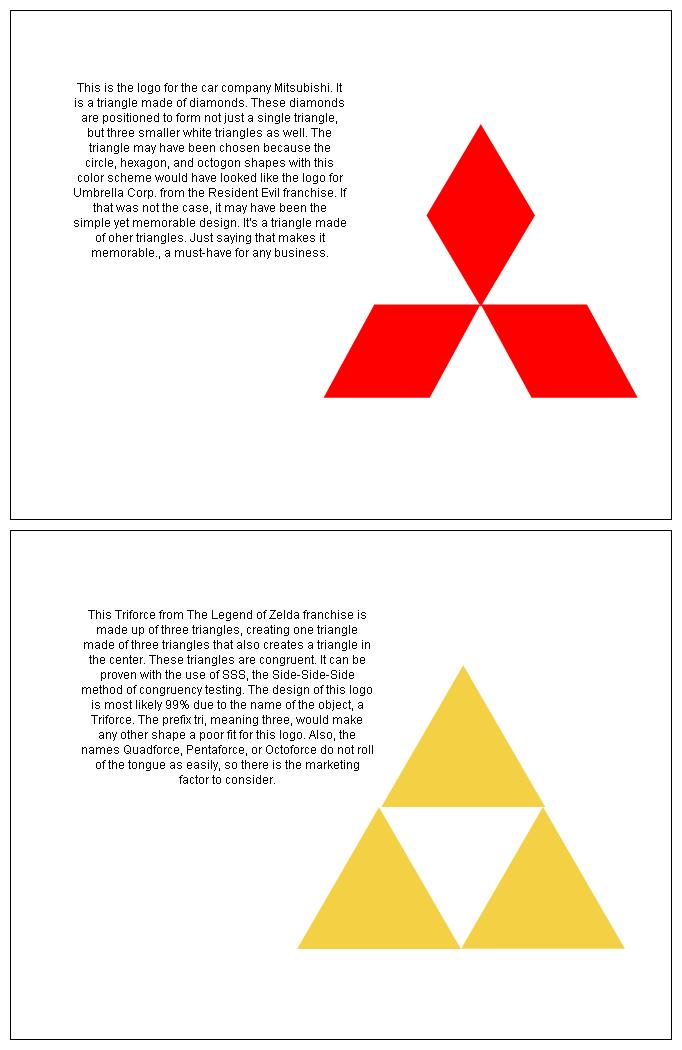 Congruent Triangle Logo porject pt.2