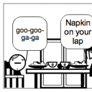 Napkin on your lap