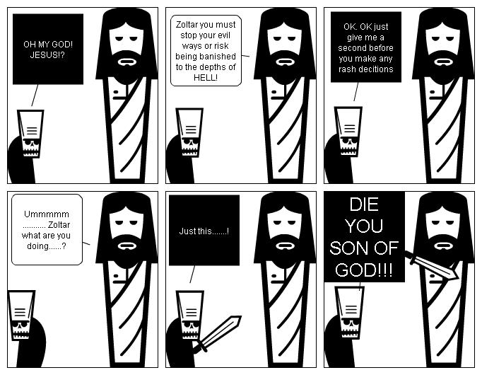 Zoltar kills Jesus