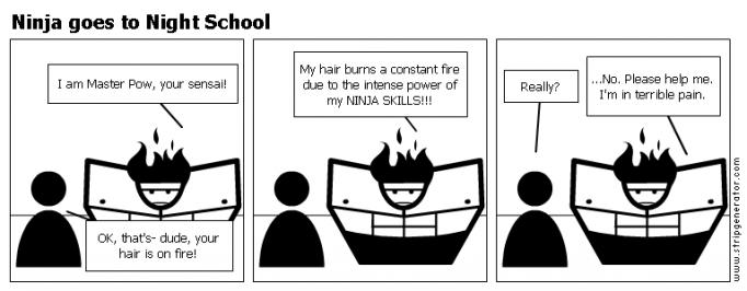 Ninja goes to Night School
