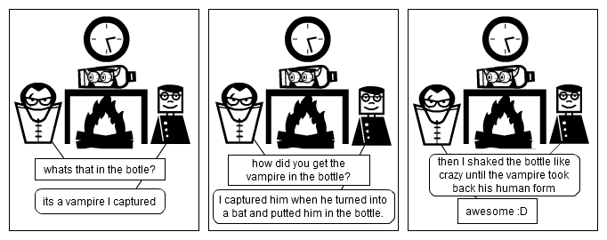 vampire in the bottle