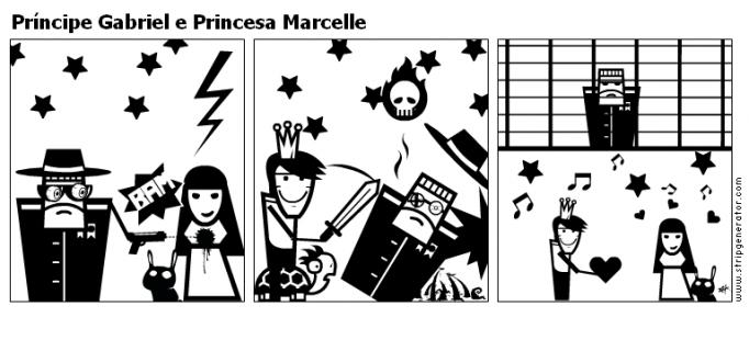 Príncipe Gabriel e Princesa Marcelle