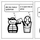 la tortuga ninlla contra espiderman