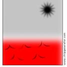black sun red sea