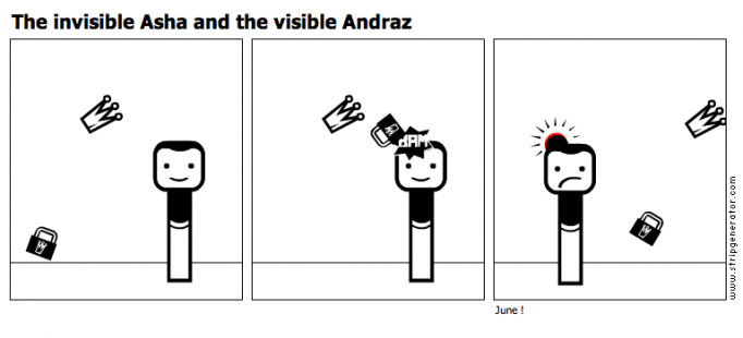 The invisible Asha and the visible Andraz