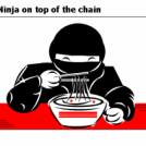 Ninja on top of the chain