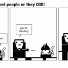 WARNING! dont shoot people or they DIE!