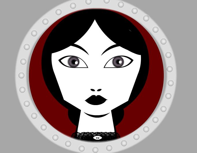 Lady looking trough porthole