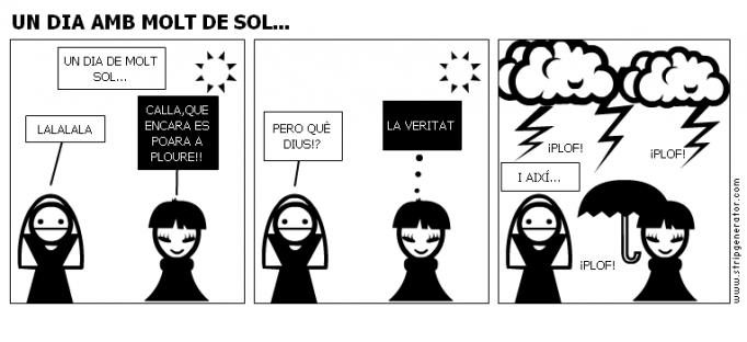 UN DIA AMB MOLT DE SOL...