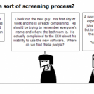 Don't we have some sort of screening process?