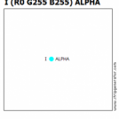 I (R0 G255 B255) ALPHA