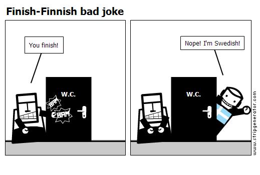 Finish-Finnish bad joke