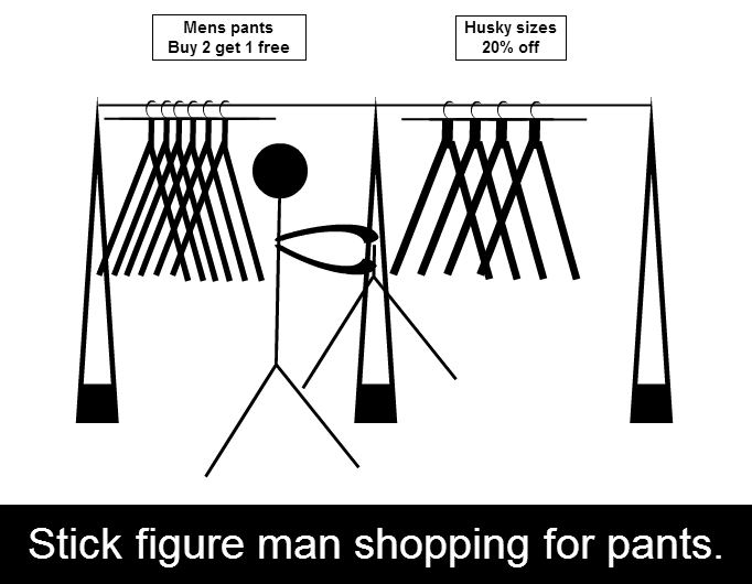 The mundane adventures of stick figure man.